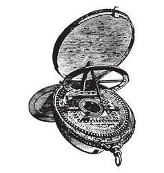 Astrolabe vintage vector