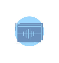 Audio frequency hertz sequence wave glyph icon vector