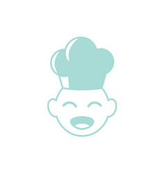Baby chef icon design template isolated vector