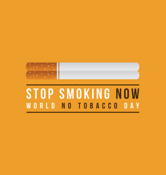 Background no tobacco day vector