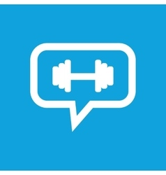 Barbell message icon vector