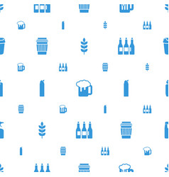 beer icons pattern seamless white background vector image