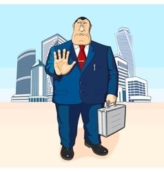 Boss or businessman Tall buildings vector