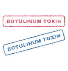 botulinum toxin textile stamps vector image