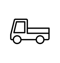 Car delivery logistic icon vector