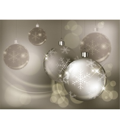 christmas background baubles color 10 v vector image