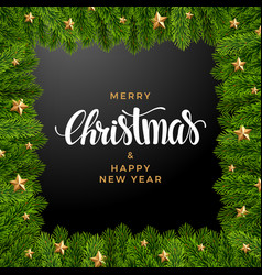 Christmas fir background realistic look holiday vector