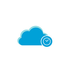 cloud computing icon clock icon vector image