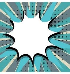 Comic speech bubble Pop Art blue back vector