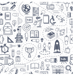 concept of education school background with hand vector image