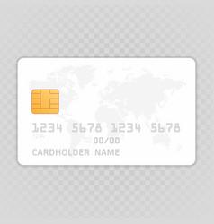 credit card mockup vector image