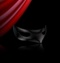 Dark mask and red drape vector