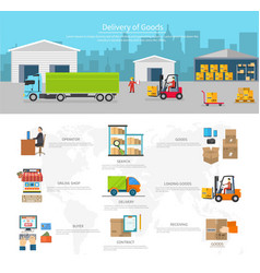 Delivery goods logistics and transportation vector