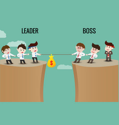 Difference between leader and boss vector