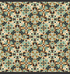 Earthy kaleidoscope seamless pattern vector