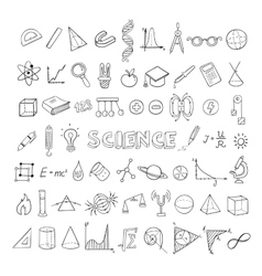 Education Sketch Icons Collection vector