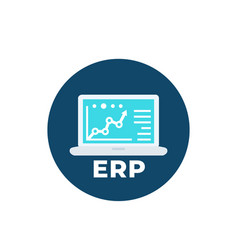 Erp system software icon vector