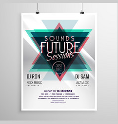 Event flyer poster template with abstract vector