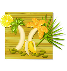 exotic fruit meal vector image vector image