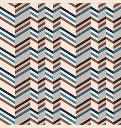 Fashion chevron pattern in brown retro colors vector image