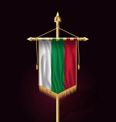 Flag of bulgaria festive vertical banner wall vector