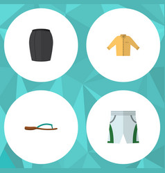 Flat clothes set of banyan stylish apparel vector