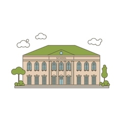 Flat School vector image