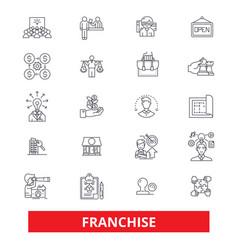 Franchise businesssmall business franchisor vector