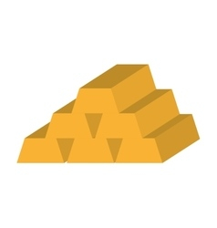 Gold ingot isolated icon design vector