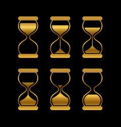 golden sands time hourglass isolated vector image