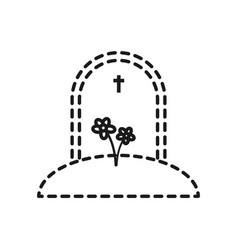 Gravestone icon image vector