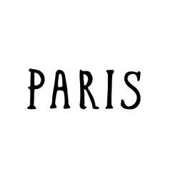 Hand drawn Paris phrases vector image