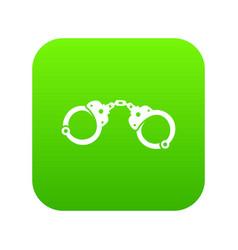 handcuffs icon digital green vector image
