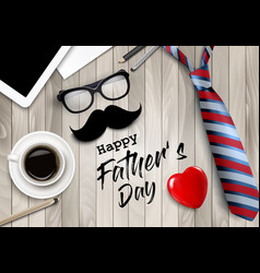 happy holiday fathers day background colorful vector image