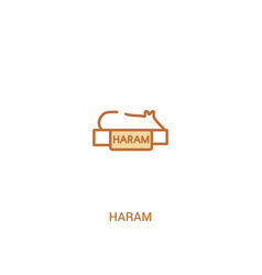 Haram concept 2 colored icon simple line element vector