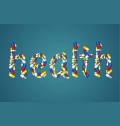 Healthcare concept - pills vector