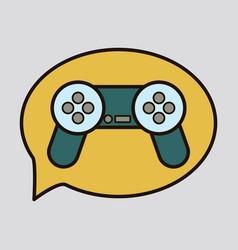 Icon social media e-mail game joystick message vector