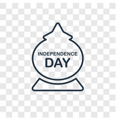 independence day concept linear icon isolated on vector image