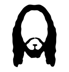 jesus face beard hair head christ son god vector image