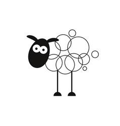 lamb abstract sign symbol or logo template vector image