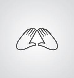 massage outline symbol dark on white background vector image