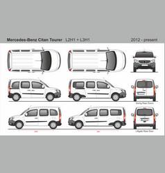Mercedes citan tourer van l2h1 l3h1 2012-present vector