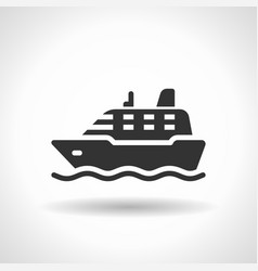 monochromatic ship icon with hovering effect vector image