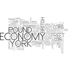 new economy word cloud concept vector image