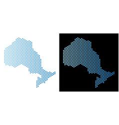 Ontario province map hexagonal scheme vector