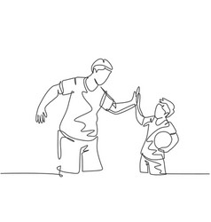 Parenting concept single line drawing young vector