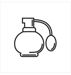 Perfume simple icon on white background vector
