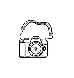 photo camera hand drawn outline doodle icon vector image