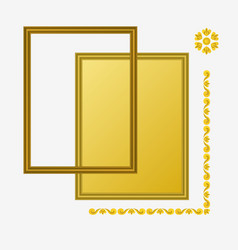 Photo golden frame composition vector