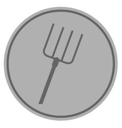 pitchfork silver coin vector image
